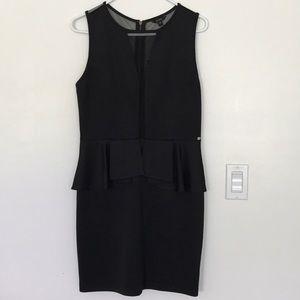 Guess peplum dress with mesh details
